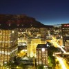 The Cape Town City Bowl at night