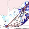South Africa Inward Migration Map