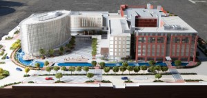 Architect's Model of the Bridgeways Development in Century City