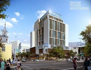Architect's impression of the Tsogo Sun hotel