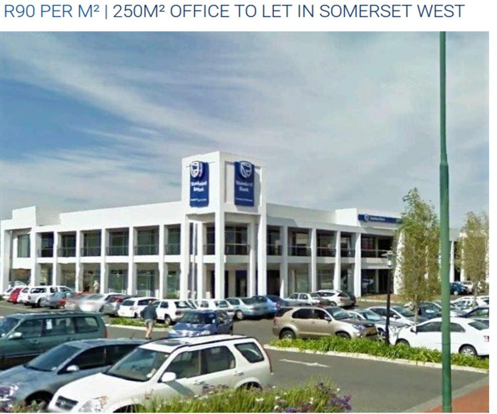 R90 per m² | 250m² Office To Let in Somerset West