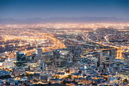 Cape Town Cityscape by night
